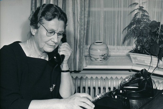 President of the Danish Nurses' Organization, Maria Madsen 1966.