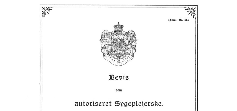 Autorisationsbevis 1934.
