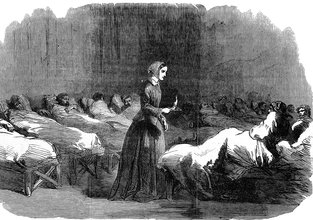 """Florence Nightingale """"The Lady with the Lamp"""" i Scutari"""