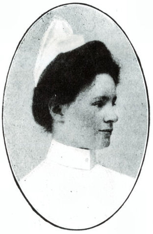 Margrethe Koch på Presbyterian Hospital i New York 1909